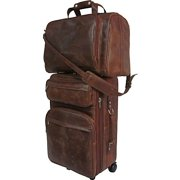 Amerileather 8002-2 2-Piece Carry-On Luggage Set - Brown