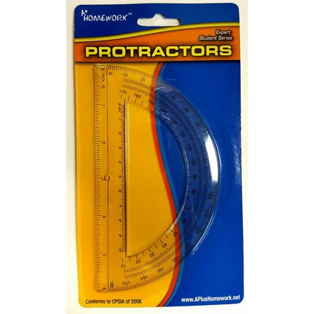 Bulk Buys Protractor - 6 inch - 180 degrees - plastic - Case of 48