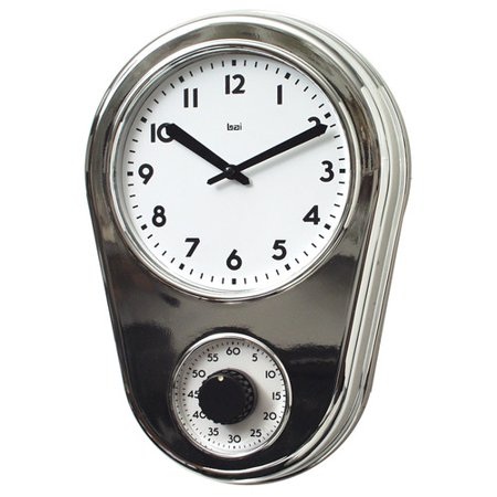 Bai Design 8 5 39 39 Kitchen Timer Retro Modern Wall Clock