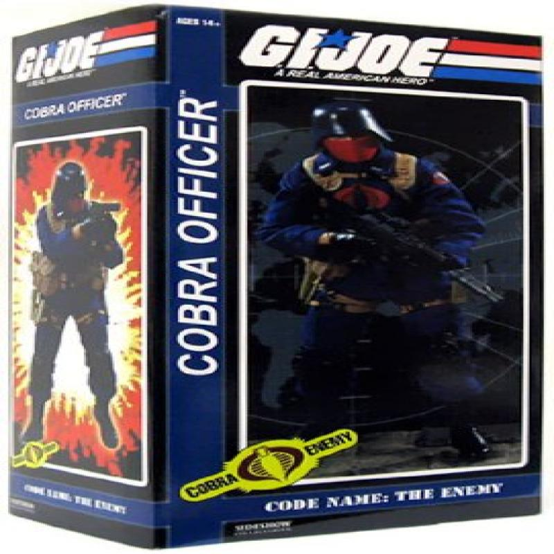 GI Joe Sideshow Collectibles 12 Inch Deluxe Action Figure Cobra Officer by