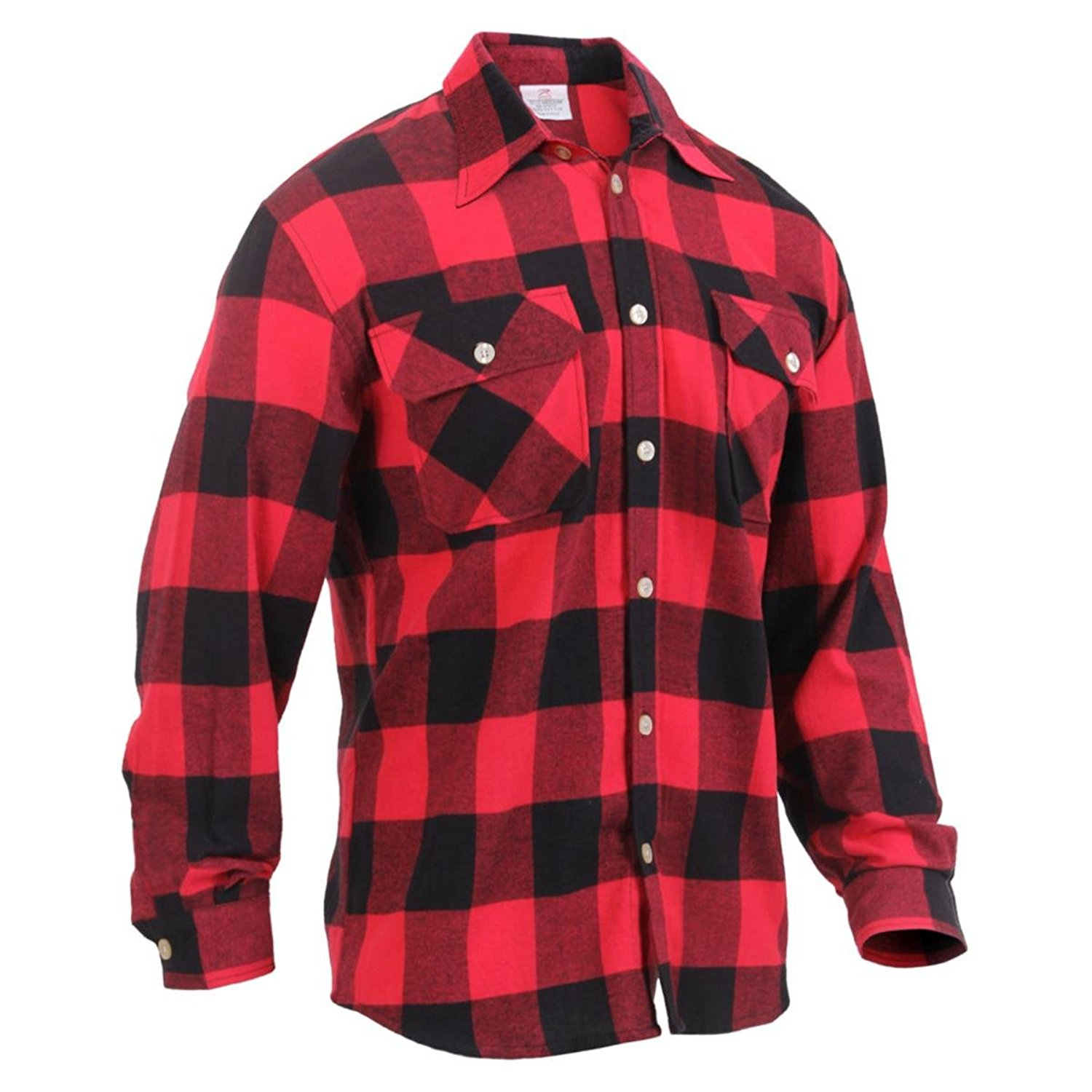 Rothco Lightweight Flannel Shirt - Red Plaid, X-Large