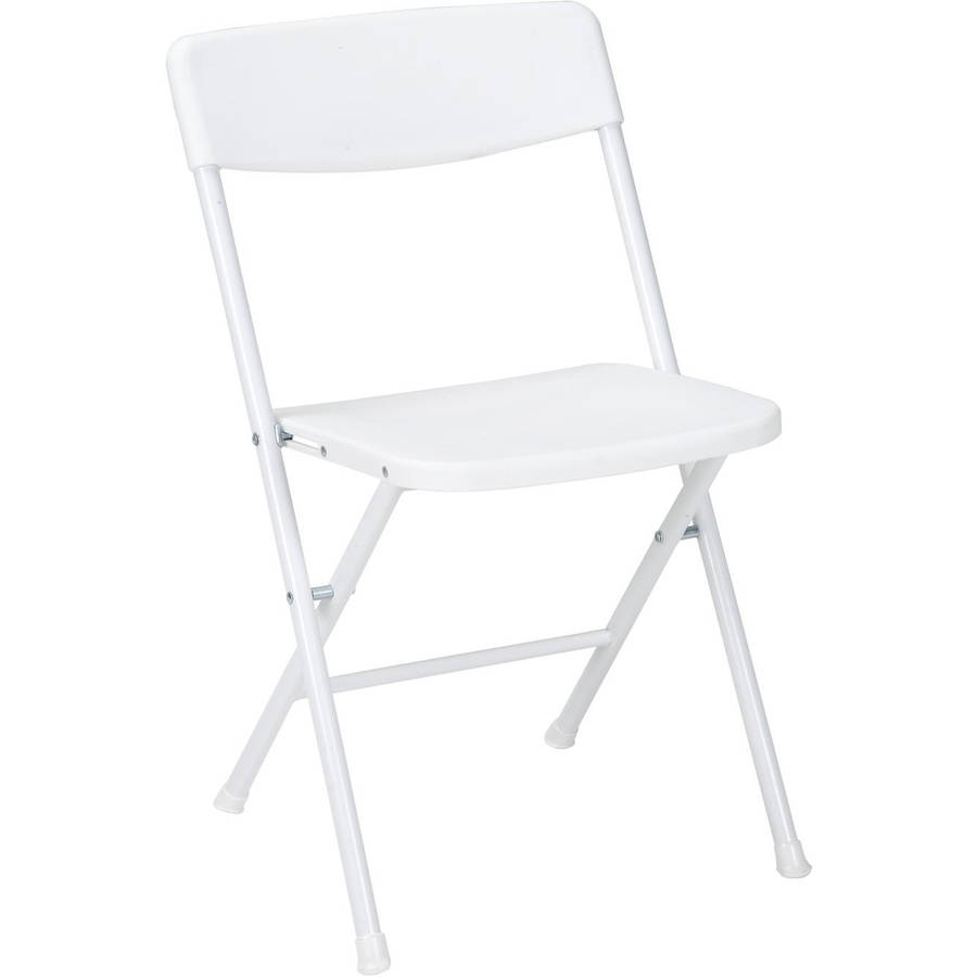 Cosco Resin Folding Chair with Molded Seat and Back White 4pk  sc 1 st  Walmart : resin folding chair - Cheerinfomania.Com
