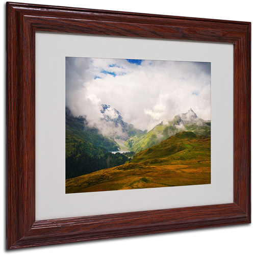 "Trademark Fine Art ""Peaceful Switzerland"" Matted Framed by Philippe Sainte-Laudy"