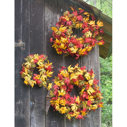 Mills Floral Company 3 Piece Wreath Set