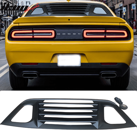 Compatible with 08-19 Dodge Challenger Window Louver Rear Cover Unpainted ABS Truck Window Louvers