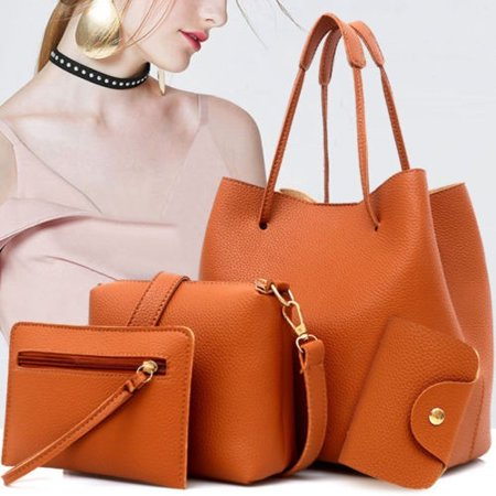 High Quality Female Lady Large Capacity Shoulder Messenger Elegant Handbag Bags Purse Sets
