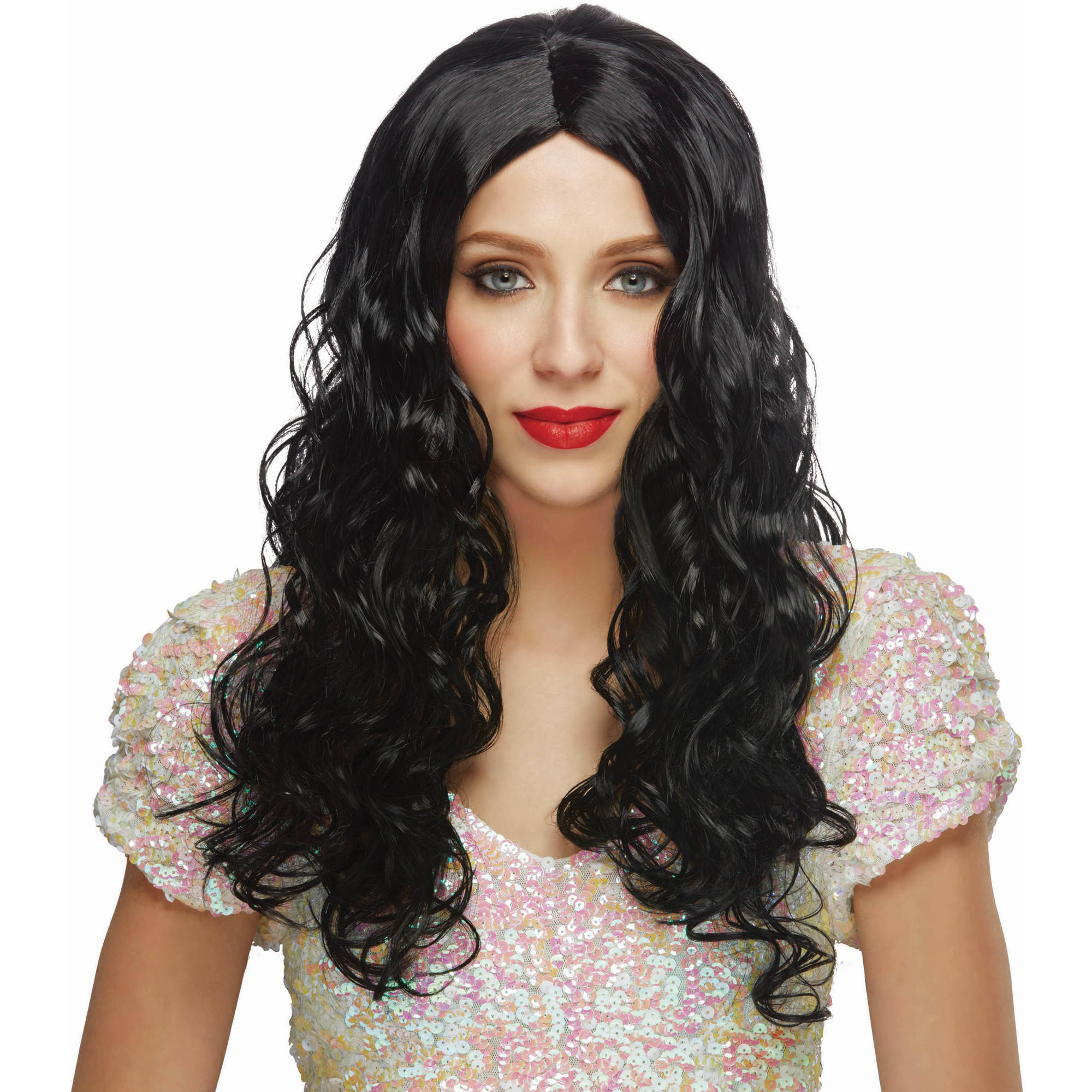 "30"" Long Black Wig Halloween Accessory"