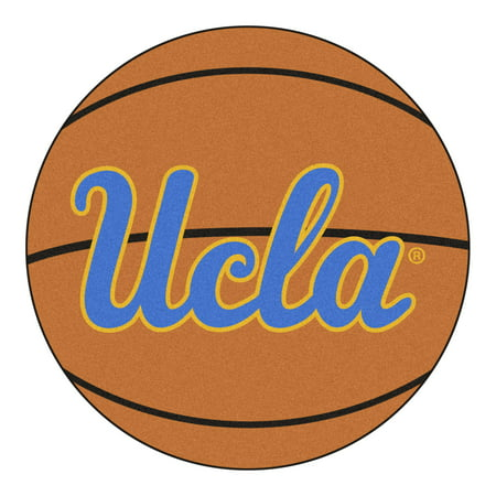 NCAA University of California - Los Angeles (UCLA) Bruins Basketball Shaped Mat Area Rug