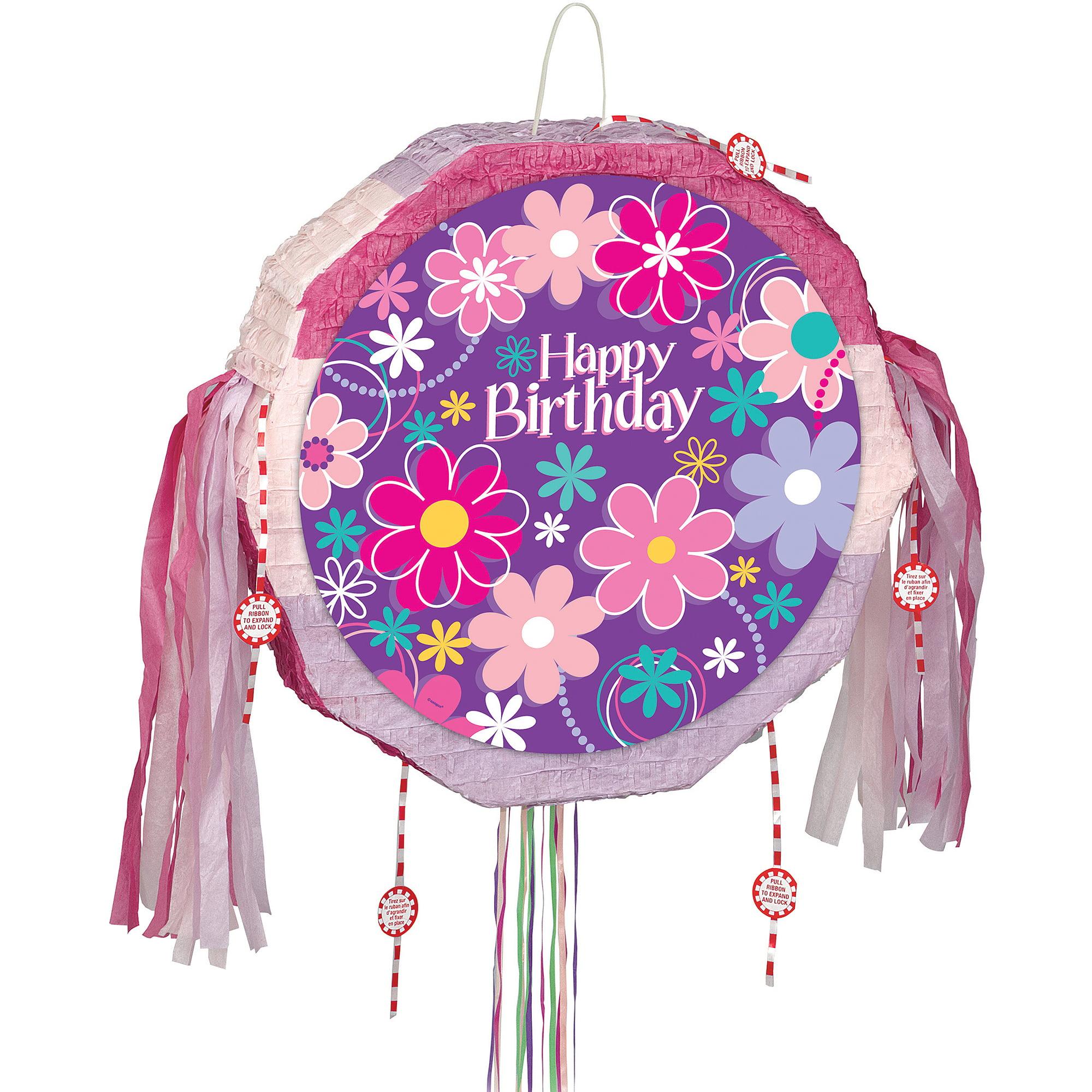 Birthday Blossom Pinata, Pull String