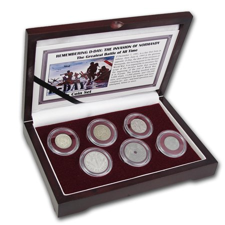 Normandy Invasion 6 Nation Coin Set  D Day