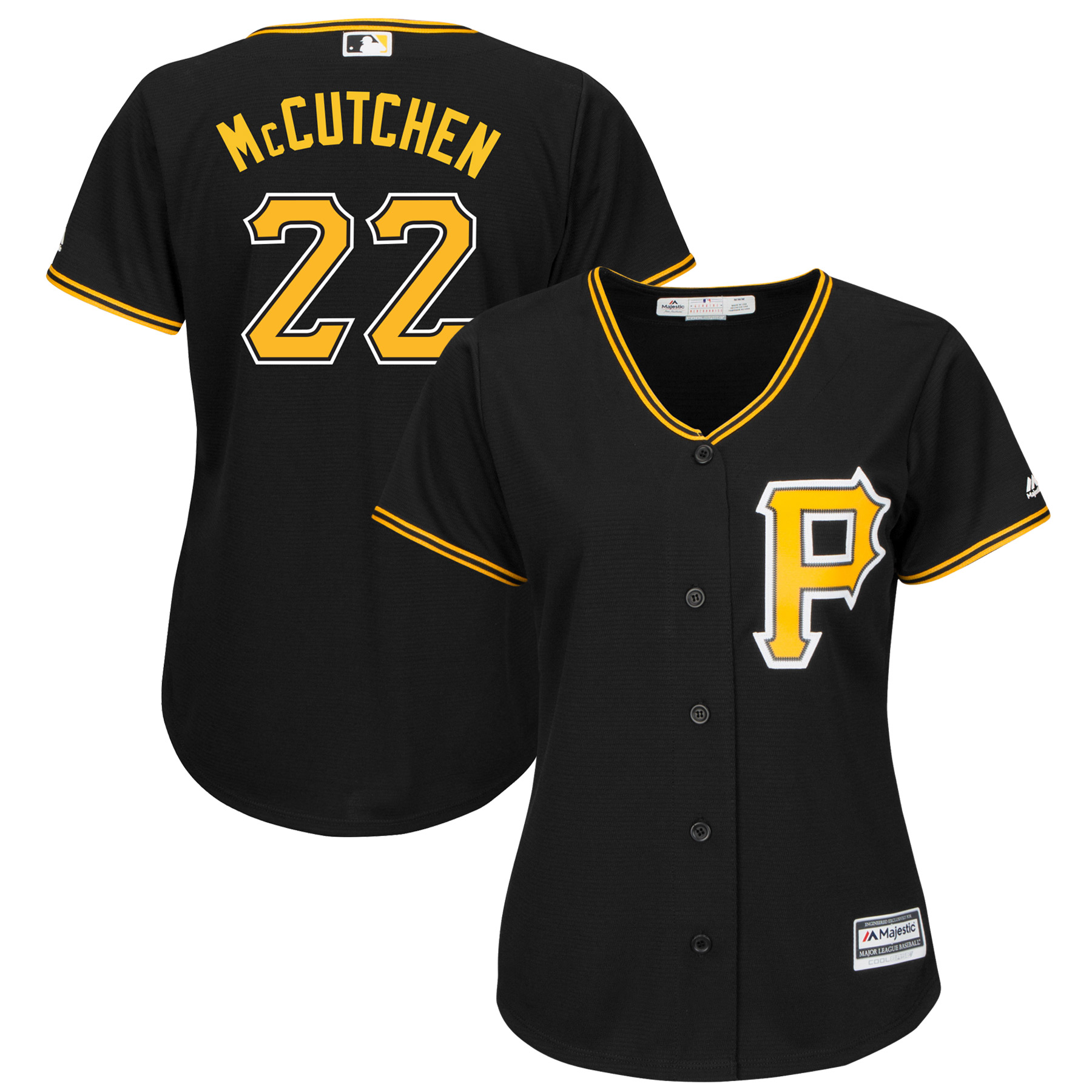 Andrew McCutchen Pittsburgh Pirates Majestic Women's Plus Size Alternate Cool Base Player Jersey - Black
