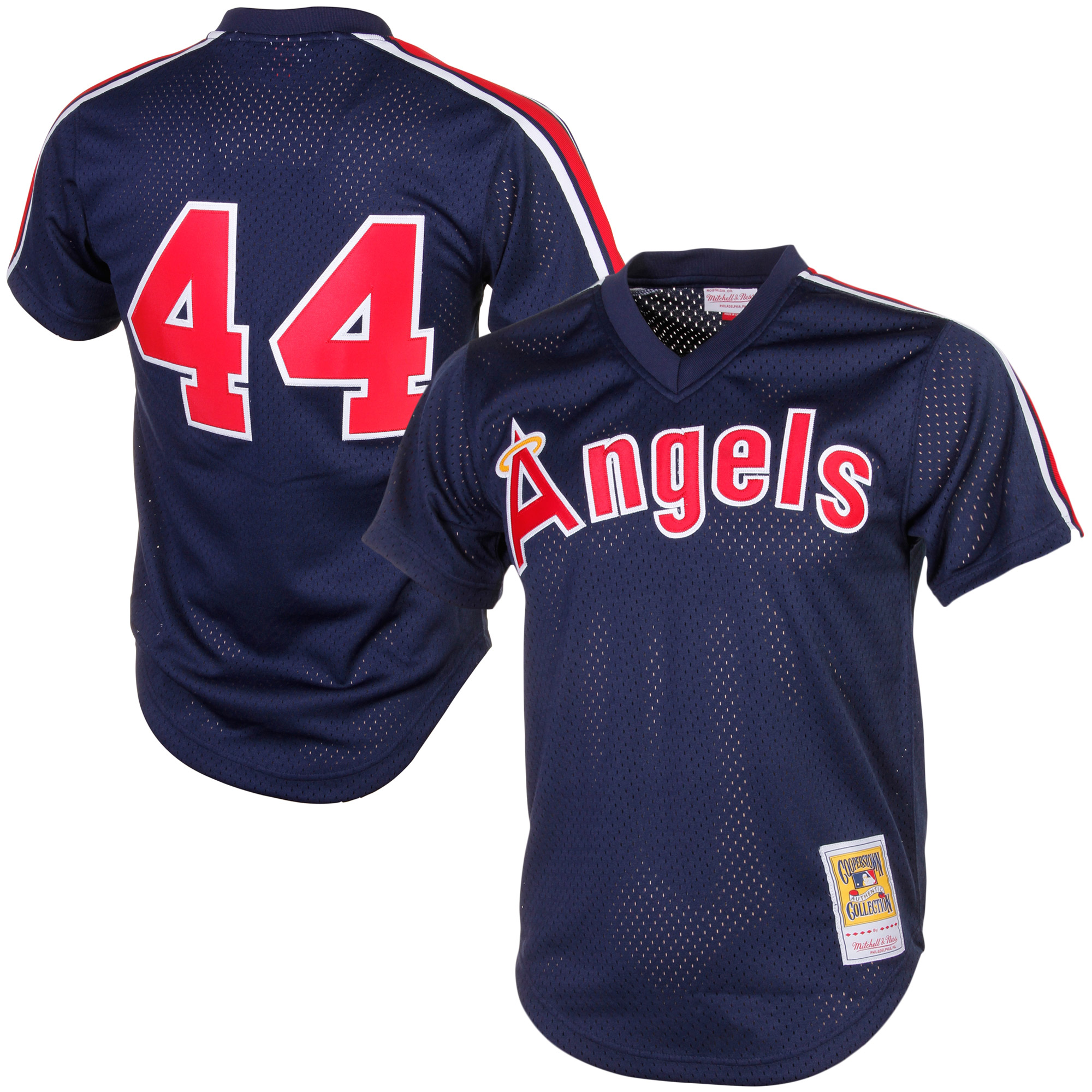 Reggie Jackson California Angels Mitchell & Ness Cooperstown Mesh Batting Practice Jersey - Navy