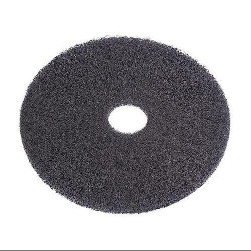 "Tough Guy 6XZW5 11"" Black Recycled Plastic Polyester Fiber Stripping Pad"