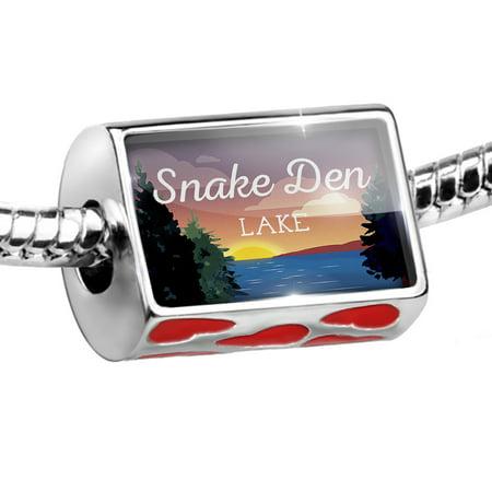 Retro Snake (Bead Lake retro design Snake Den Lake Charm Fits All European)
