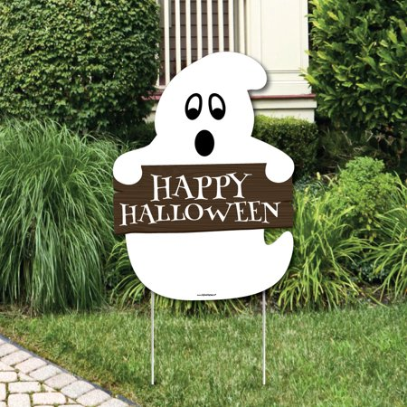 Spooky Ghost - Party Decorations - Halloween Party Welcome Yard Sign - Welcome To Halloween Party