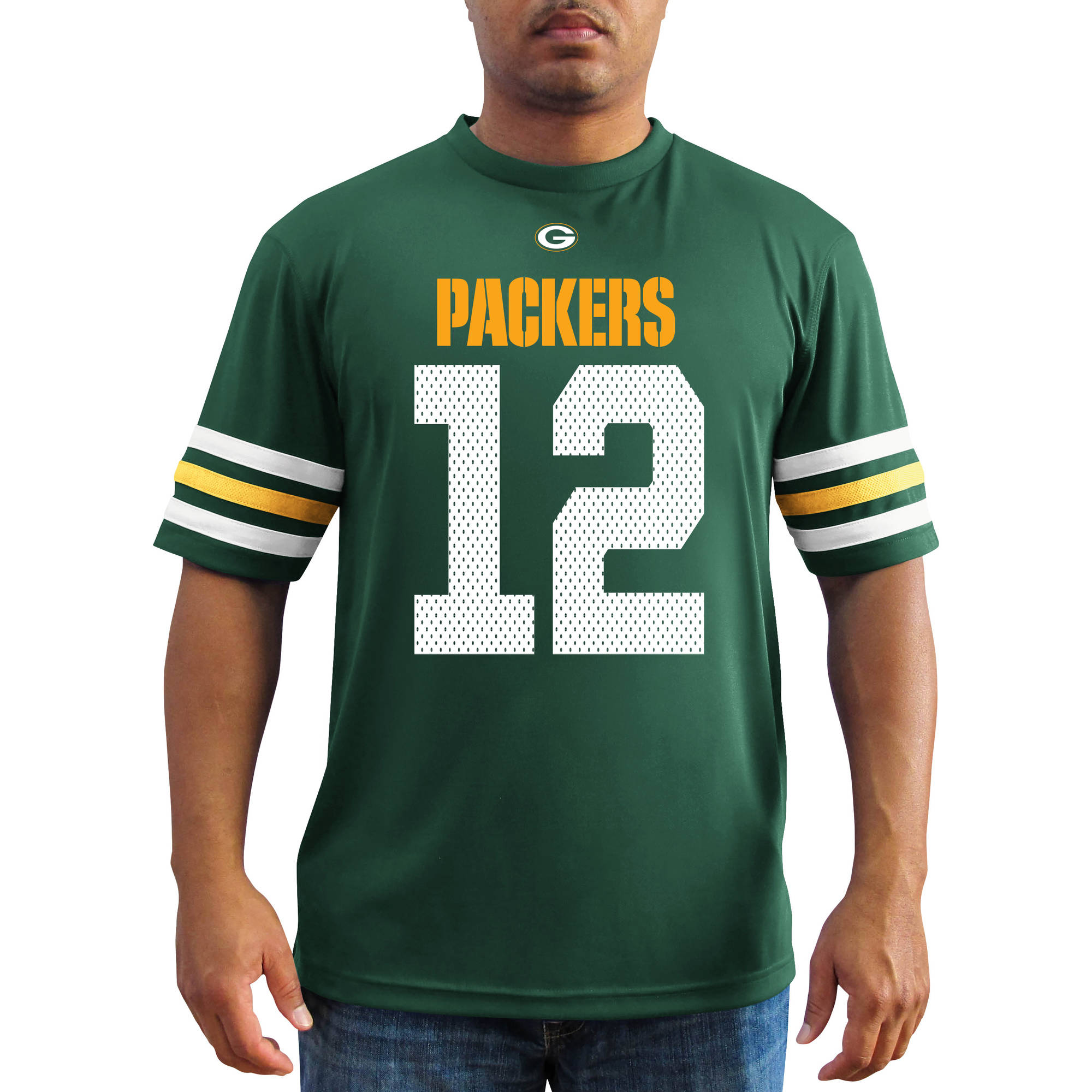 NFL Men's Green Bay Packers Rodgers Synthetic Fashion Tee