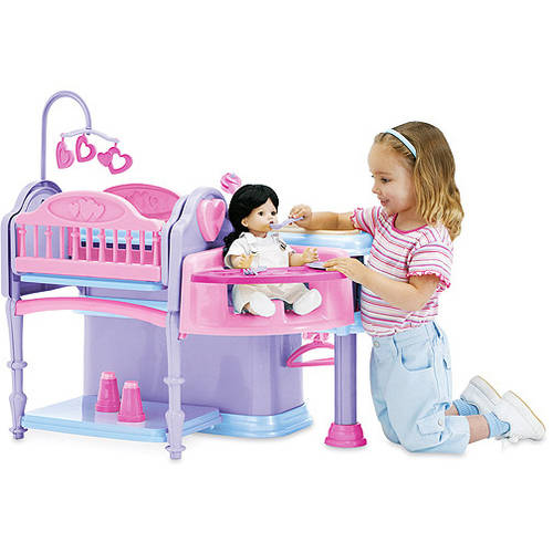 Perfect Deluxe Doll Nursery, 10 Piece Play Set
