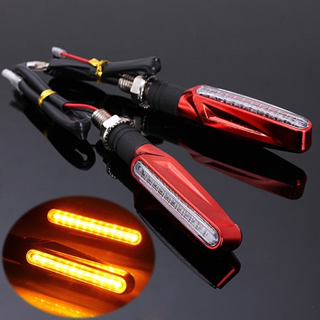 Motorcycle LED Turn Signal Light Indicator Blinker Amber Bulb Lamp   ledturnsignal 2pcs Black US Black -