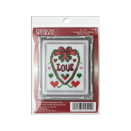 Love And Stitches Designs (Design Works Cross Stitch Kit 2x3)