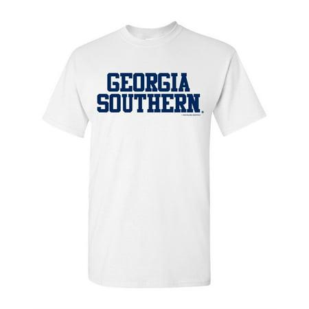 Stroker Short Block - Georgia Southern Eagles Stacked Block Workmark Logo Short Sleeve T-Shirt
