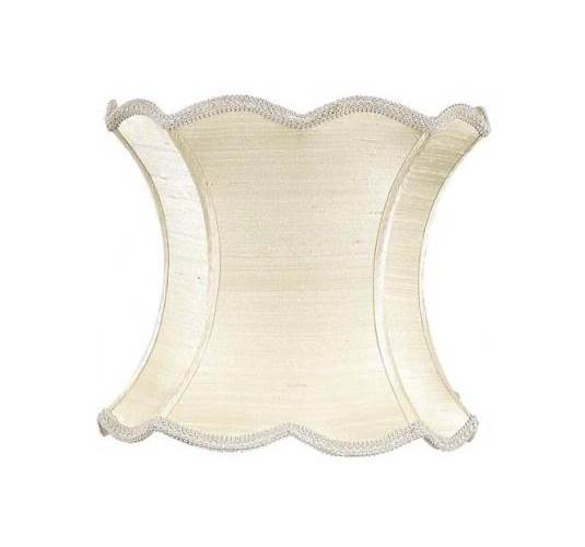 Extra Large Shade - Scallop Hourglass - Ivory