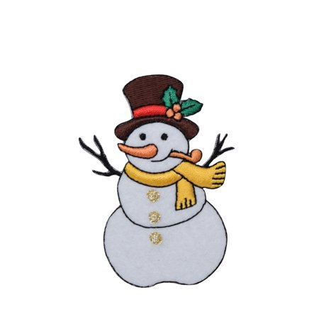 Snowman - Pipe/Top Hat -  Iron on Applique/Embroidered Patch