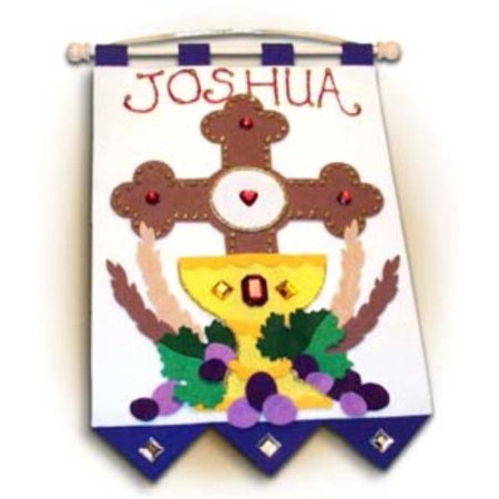 Easy to Assemble First Holy Communion Banner Kit Cross 9
