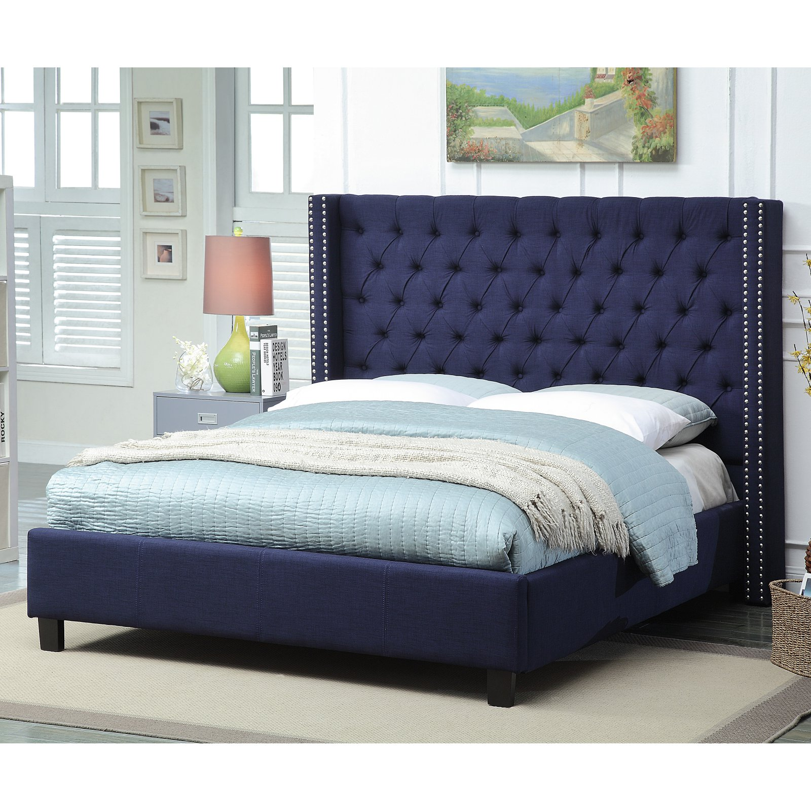 Meridian Ashton Wingback Upholstered Bed