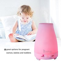 ZOKOP Ultrasonic Aroma Humidifier 200ML Cool Mist Humidifier with LED