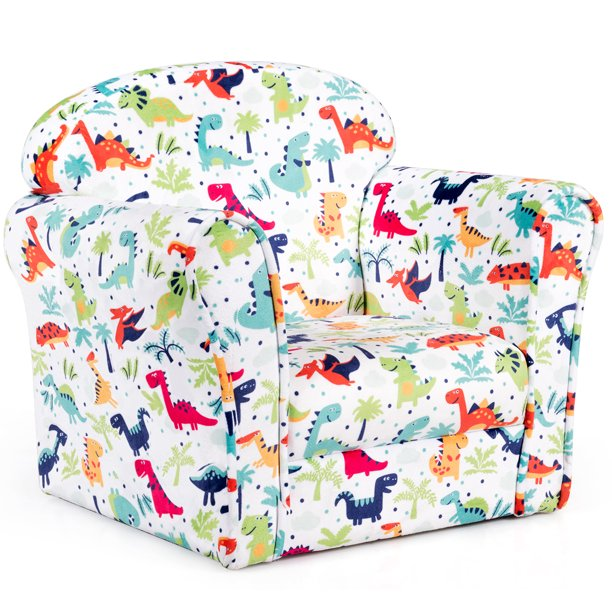 Single Sofa Children Armrest Chair Dinosaur Pattern Kids Seat Lovely Gift