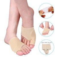 Zerone 2PCS Toe Bunion Splint Straightener Hallux Valgus Corrector Adult Women Elastic Gel Lined Bunion Protector Bunion Sleeve Toe Spreader Corrector Pad Foot Care Pain Relief