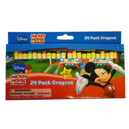 Mickey Mouse & Friends Crayon  Mickey Mouse ClubHouse 24 Pack Crayons