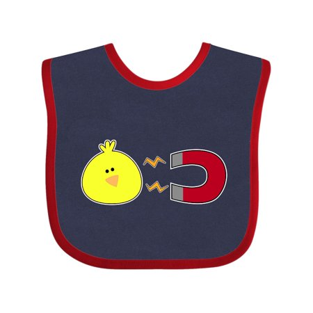 Chick Magnet Baby Bib Navy and Red One Size