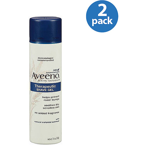 Aveeno Therapeutic Shave Gel Shave Gel, 7 oz (Pack of 2)