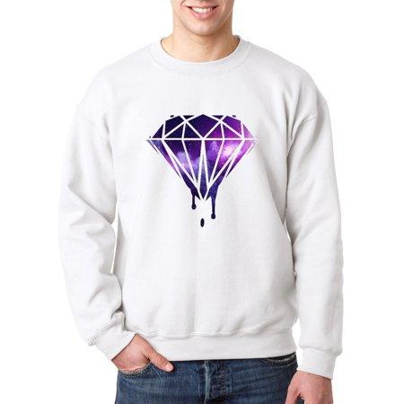 089 - Crewneck Galaxy Bleeding Dripping Diamond Sweatshirt ()