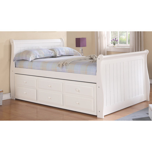 Donco Kids Donco Kids Sleigh Bed with Trundle and Storage