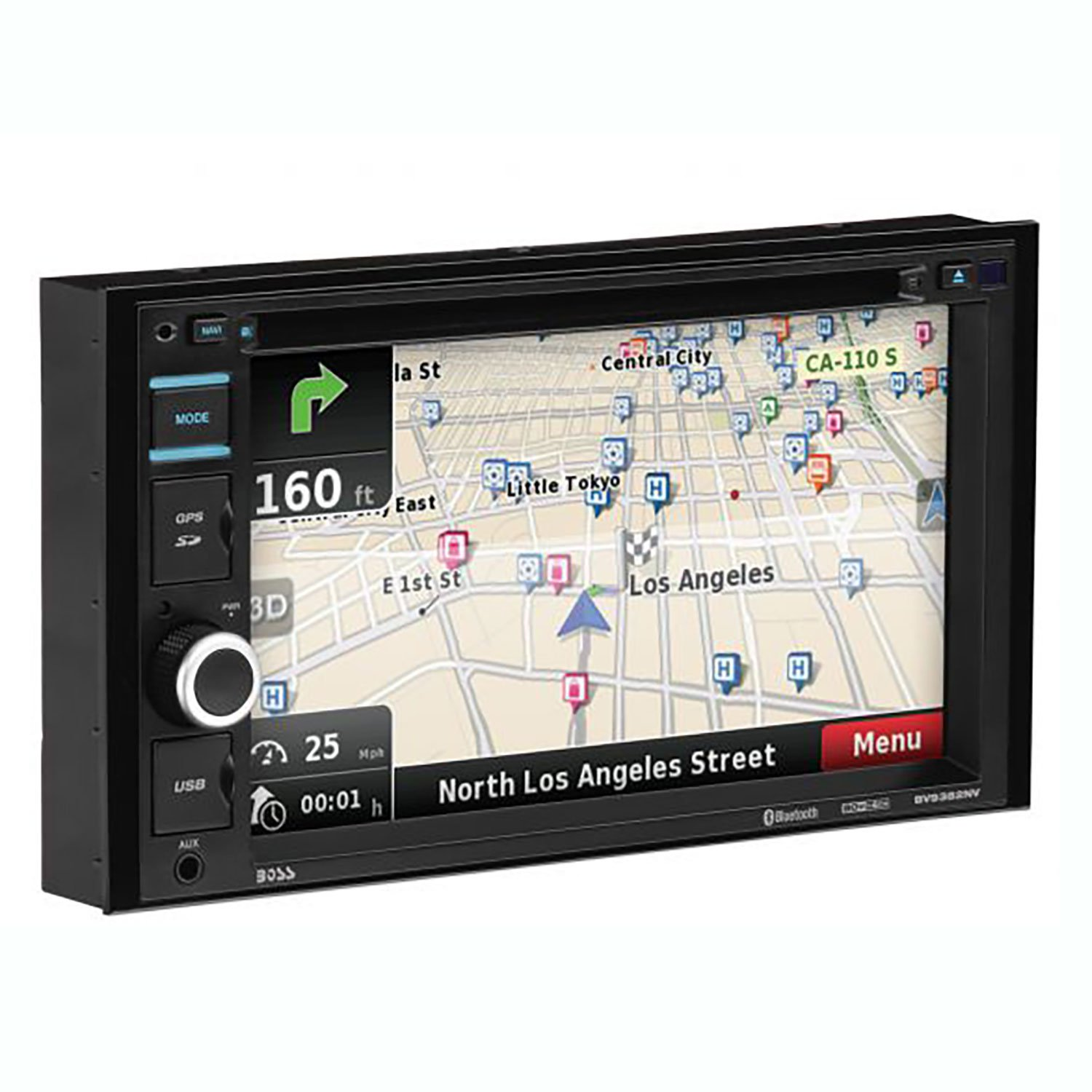 "Boss Audio 6.2"" Double DIN Touchscreen Bluetooth Vehicle Navigation Receiver"
