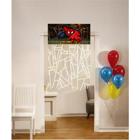 Ultimate Spider-Man Plastic Doorway Curtain (1ct) (Spiderman Themed Birthday Parties)