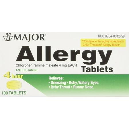 2 Pack - MAJOR Allergy Tablet 100 ea