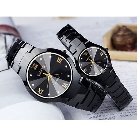 Fashion Creative Luxurious watches women watch waterproof ms han edition contracted watch male couple watches a quartz expression (Microsoft Watch)