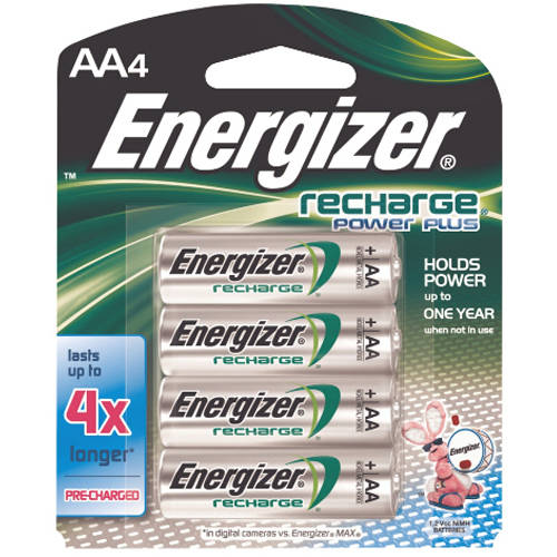 Energizer Rechargeable Batteries AA4