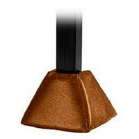 First Team FT74 Foam-Vinyl Gusset Pad for 4 & 5 in. Crank Adjust Base Only, Sienna Orange