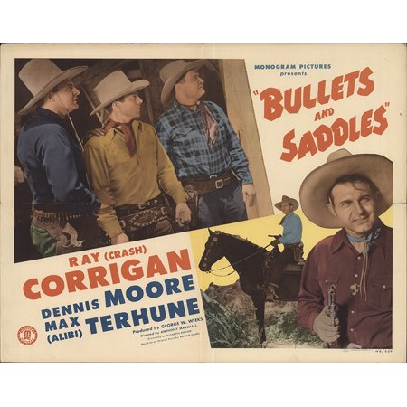 Bullets and Saddles (1943) Laminated Movie Poster Version 2 Print 24 x (Bullet Saddle)