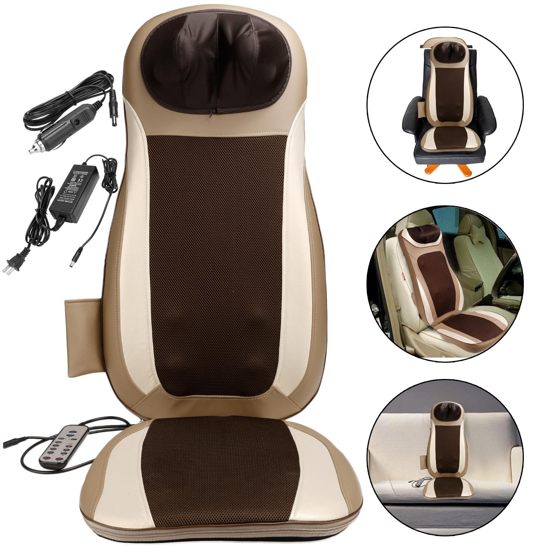 Electric Car Massage Cushion Chair Seat Shoulder Body Bac...