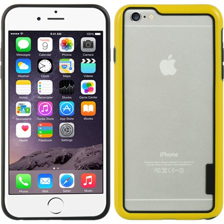 Insten Hard Hybrid Crystal TPU Case for Apple iPhone 6s Plus / 6 Plus - Clear/Yellow - image 5 of 5
