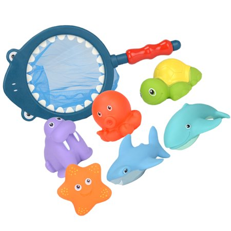 Electronicheart Baby Bath Toys Set Sea Life Creature Cartoon Bathing Toys Children Water Spray Bathroom Supplies - image 2 of 8