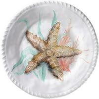 Merritt International Coral Shell 8in plate - Starfish