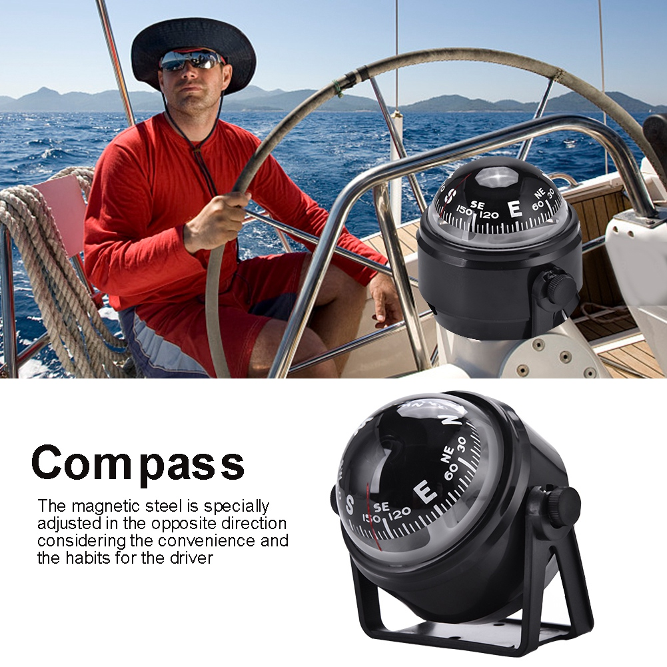 NEW Marine Compass Pivoting Electronic Ball Navigation For Car Boat Truck UTV