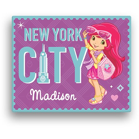 Personalized Strawberry Shortcake New York City 11' x 14' Canvas Wall Art - Party City Strawberry Shortcake