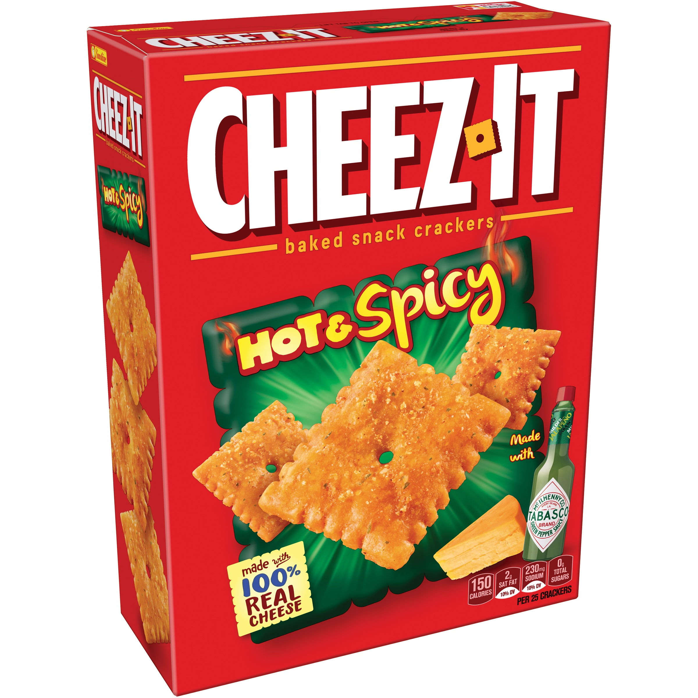 (2 Pack) Cheez-It Hot & Spicy Baked Snack Crackers 12.4 oz. Box